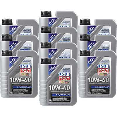 10X1 LITRE GENUINE Liqui Moly 1091 MoS2 Performance Engine Oil 10W-40