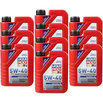 10X1 LITRE GENUINE Liqui Moly 1305 nachfüll-öl Engine Oil 5W-40