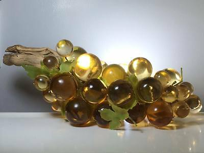 Vintage yellow lucite and drift wood grapes