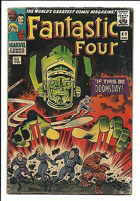Fantastic Four # 49 (2Nd. App. Silver Surfer & Galactus, Apr 1966), Vg
