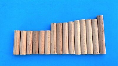 "Lot 20 Red Oak, Wood Peg,Toys, Coat Hanger, Dowel Pins 8-3/4""~2-3/8"" L x 5/8"" D"