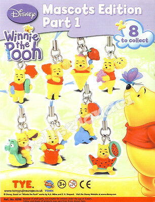 Disney Winnie The Pooh Mascots Edition Part 1 - Tomy 8 Pezzi