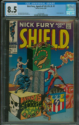 Nick Fury Agent of Shield #1 CGC 8.5 vol. 1 Classic Steranko cover 1968