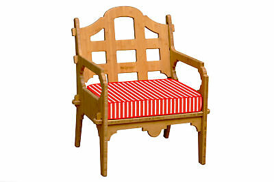 Palladian Lounge Chair with Red and White Striped Sunbrella Cushion