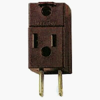 Leviton 531 15 Amp, 125 Volt, Non-Grounding Three Outlet Cube Adapter, Brown