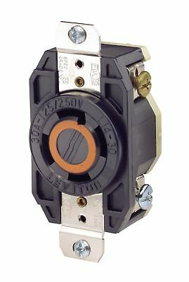 Leviton 2710 30 Amp, 125/250 Volt, Flush Mounting Locking Receptacle, Industr...
