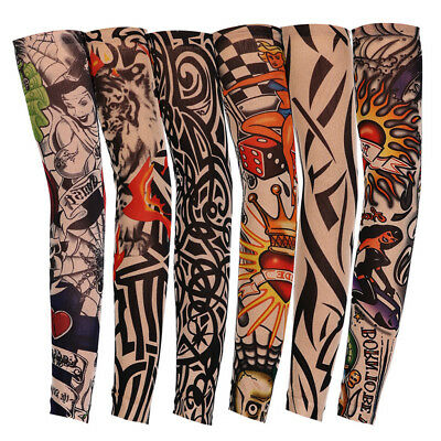 Tattoos Arm Sleeves Cooling Cover UV Sun Protection Basketball Golf Sport Pro.