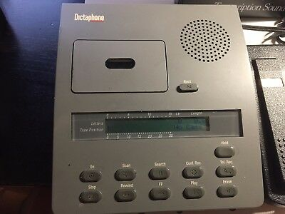 Dictaphone 1750 Minicassette Player with Foot Pedal Power Headset Earpiece