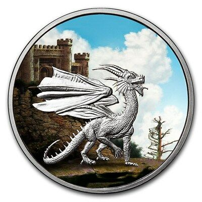 Celtic Lore Series - The Red Dragon 1 oz .999 Silver Colorized Proof Round Coin