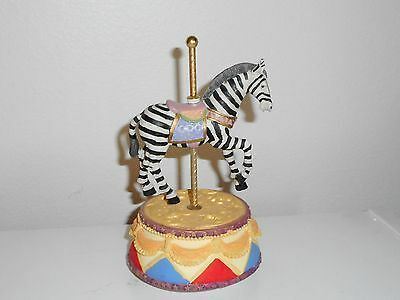 Zebra Carousel Music Box With Movement