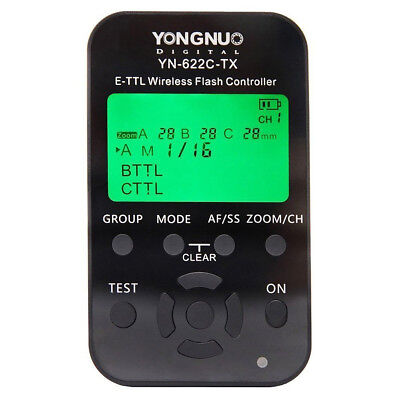 Yongnuo Wireless YN-622C-TX LCD e-TTL Flash Controller 1/8000s for Canon S