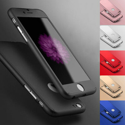 Hybrid 360° Shockproof Case Tempered Glass Cover For iPhone 7s 5s 6s 6p 7p NEWS