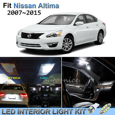 For 2007 2015 nissan altima xenon white led interior lights kit 10 pieces cad picclick ca 2015 nissan altima interior lights