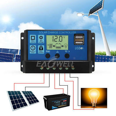 30A MPPT Solar Panel Battery Regulator PMW Solar Charge Controller 12V/24V