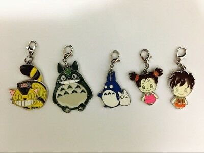 Totoro 5pcs Metal Pendant Gift Anime Collect Hanging Drop Ornament Decor
