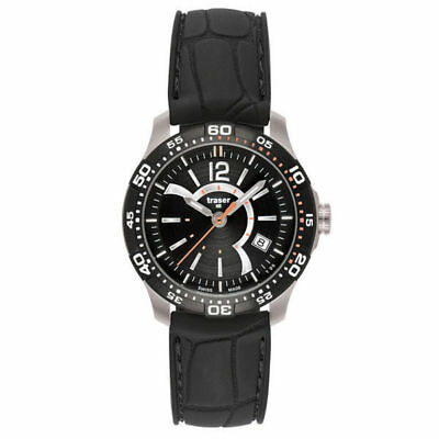 Traser H3 Ladyline Lady Time with Silicone Band Watch (Black)