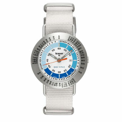 Traser Professional Pulse - set textile white with clip Watch