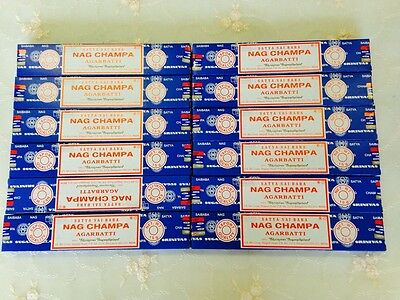 Aussie Stock 120 of SATYA SAI BABA NAG CHAMPA Incense Sticks 15G 2017 Fresh Sale