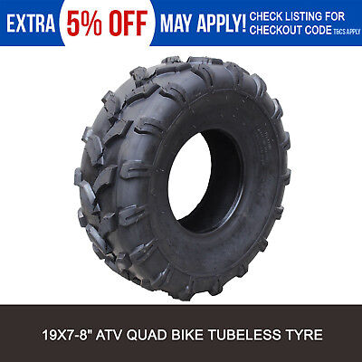 """QIND 4PLY 19 X 7 - 8"""" inch Front Chunky Tyre Tire ATV Quad Bike Buggy Go kart"""