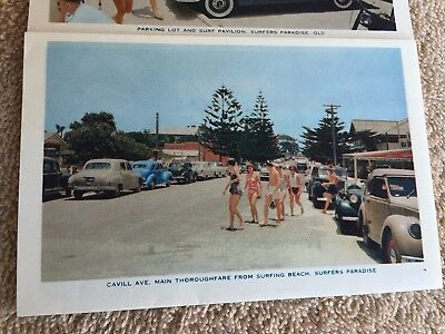 SURFERS PARADISE QUEENSLAND FOLDOUT 1960s ? BOOKLET POSTCARD