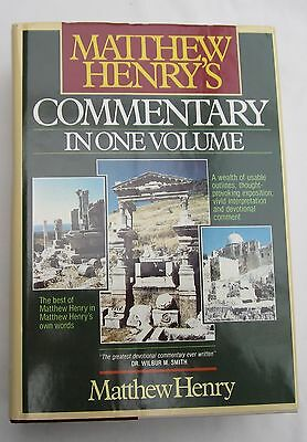 MATTHEW HENRY'S BIBLE COMMENTARY in One Volume 1986 Pages
