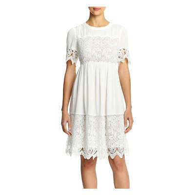 Women's Joe Fresh White Lace Crochet Dress Size Medium NWT