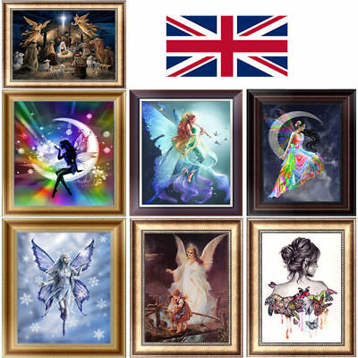 5D DIY Diamond Painting Animal Angels  Embroider Cross Stitch Home Decor Craft