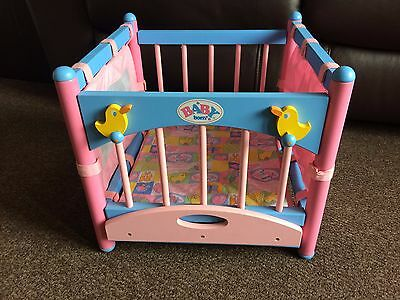 baby born vintage dolls wooden playpen play pen  changing unit 2 in 1