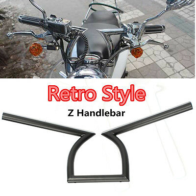 "7/8"" Motorcycle Drag Handlebar Z Bar For Yamaha Suzuki Honda Chopper Bobber AU"
