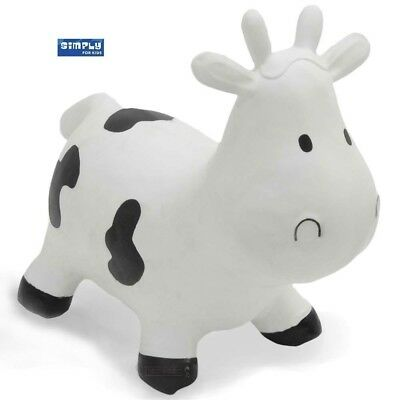 Skippy the White Cow Space Hopper, White with Black Spots, Free Pump