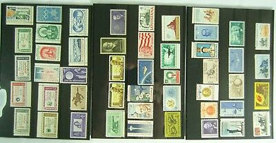 Collection of Unmounted Mint stamps from USA between 1960 and 1962