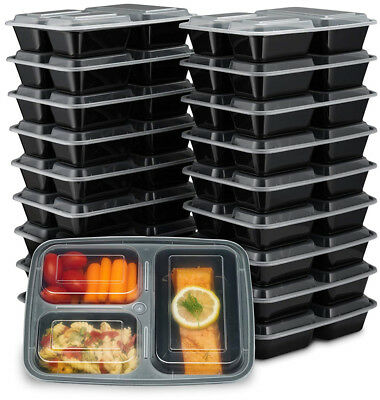 10/20Pc Meal Prep Plastic Food Storage Containers Freezer Microwavable Lunch Box