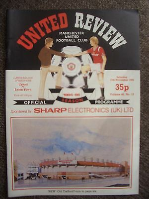 1984....MANCHESTER UNITED v LUTON TOWN......Division One......Football Programme