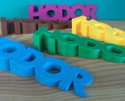 """HODOR"" Door Stopper 3D Printed Doorstop ABS Plastic (Game of Thrones)"