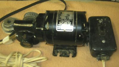 Bodine Electric Motor Nsi-12Rh With Gear Pullies 3999283 Ser. Number
