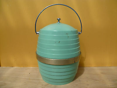 Vintage Old Green Retro Ice Bucket Very Cool