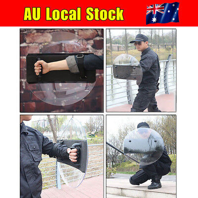 PC Round Anti-Riot Circular Shield Police Tactical CS Campus Security Protection