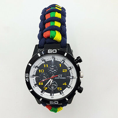 Paracord Watch with The Royal Marine (RMC) Colours a Great Gift