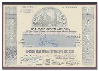 Cessna Aircraft Company RARE American Bank Note Production Portfolio