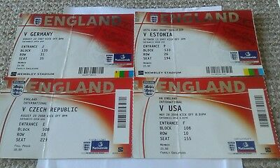 4 england used tickets