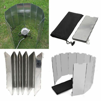 10 Plates New Foldable Camping Cooking Outdoor Gas Stove Wind Shield Screen