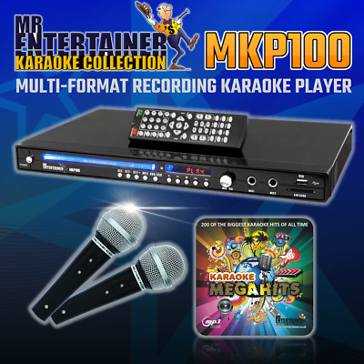 Mr Entertainer MKP100 CDG DVD Karaoke Machine Player Package. 200 Songs & 2 Mics