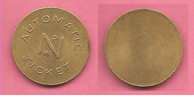 USA American NPW Automatic Ticket token / coin.