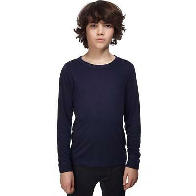 Peter Storm Kids' Thermal Long Sleeve Crew Baselayer Top Outdoor Clothing Navy