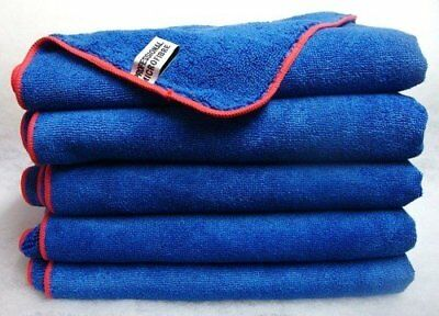 12x Large Microfibre Cleaning Auto Car Detailing Cloths Wash Towel Duster Grey