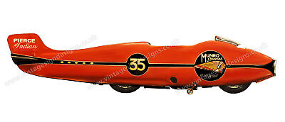 """The Worlds Fastest Indian 1920 Scout Digitally Cut Out Vinyl Sticker. 12"""" X 3"""""""