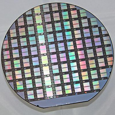 """6"""" Silicon Wafer Dallas Semiconductor DS2256 & DS9256 Parallel Static RAM memory"""