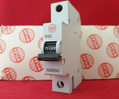 Wylex Nsb50 50A 50Amp B Type B50 Single Pole Sp 1P Mcb Fuse Switch New