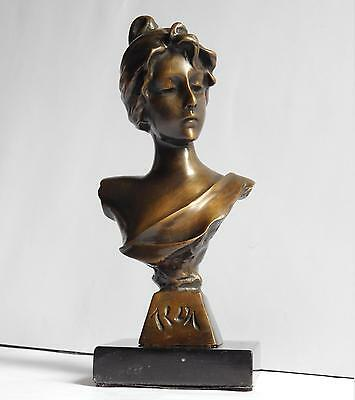 "Antique or vintage bronze statue ""Aida"", 9"" high"