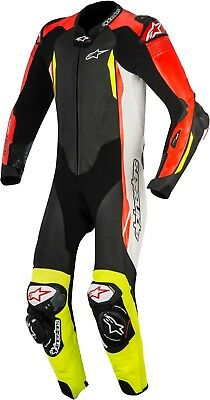 Alpinestars GP Tech V2 Black White Red Yellow Men's Motorcycle Leather Suit